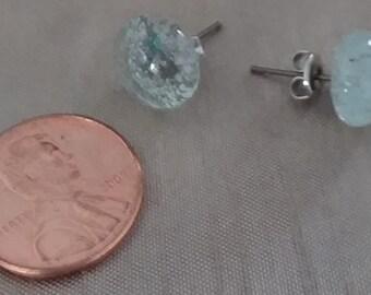 Fused glass post Earrings