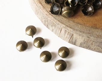 50 custom bronze nails 10 mm