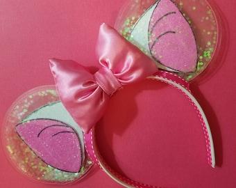 Marie Aristocrats - clear ears -  glitter ears - disney ears - minnie ears - cat ears