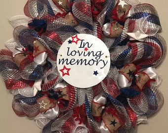16 inch Memorial Day wreath