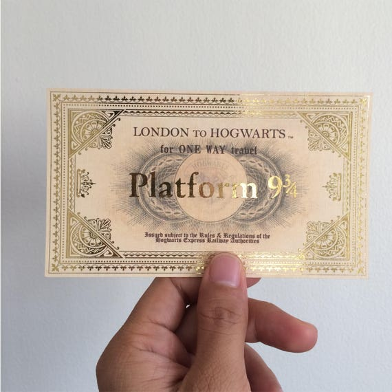 Hogwarts Express Ticket Printable editable Photoshop file