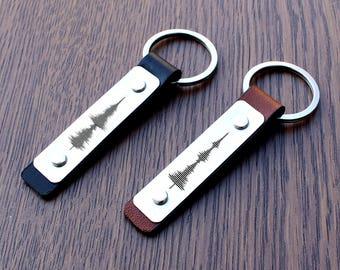 Soundwave keychain, Couples Keychain, Soundwave couple Keychain, Soundwave gift, New home gift, new home keychain, Christmas Gifts, keyfobs