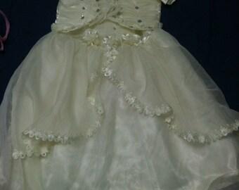 Princess dress 10 years/dress girl 10 years/ceremony-wedding - yellow chick - baptism embedding girl dress