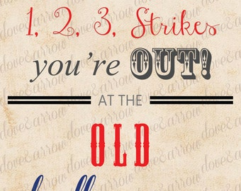 8x10 Baseball Baby Shower Printable Sign Instant Download, Print, Nursery Room, Boys, Theme, Digital Art