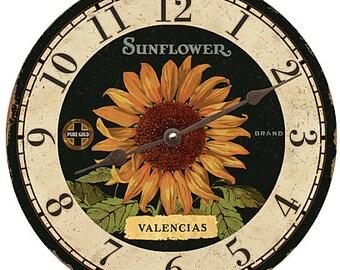 Valencias Sunflower Clock