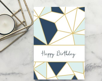 Happy Birthday Card - A6 Folded Card with Envelope!