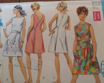 Simplicity 8239, size 12, back wrap dress or jumper, sewing pattern, craft supplies, misses