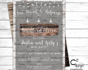 Brick & Board Rustic Invitation