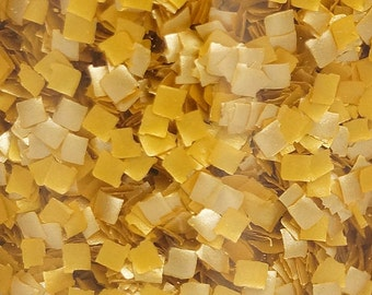 Edible Gold Glitter Confetti Squares Sprinkles for cakes, cupcakes, cookies