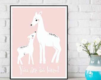 Nursery poster, Nursery decor, Children poster, Nursery quote art print, Child room decor, Illustration art, Baby children gift, Art print