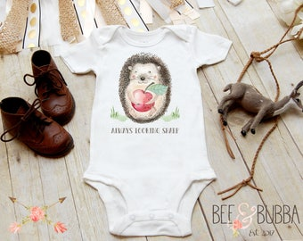 Always Looking Sharp Hedgehog Onesie ® Porcupine Onesie, Boho Onesie, Boho Baby Clothes, Cute Baby Shower Gift, Take Home Outfit Bee & Bubba