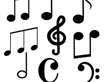 music clip art music notes svg cut files music rh etsy com hollywood sign clipart hollywood sign clipart