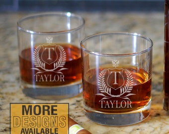 Personalized Whiskey Gift, Laser Engraved Whiskey Gift, Whiskey Lover Gift, Rocks Glass, Custom Barware, Fathers Day Gift, Gift For Dad