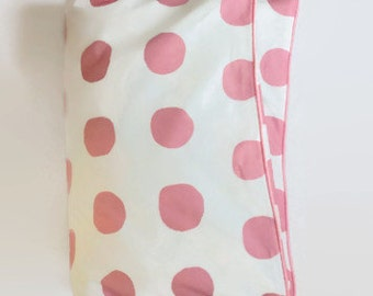 Gros point dans Toddler rose couette - Dot rose et blanc - couette lit - bébé moderne - bébé BCBG
