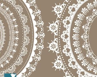 Oval Lace Frames - Digital Clipart / Scrapbooking - card design, invitations, paper crafts, web design - INSTANT DOWNLOAD