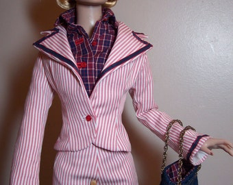 Tonner  American Model Sportswear-Jacket-Pedal Pushers -Blouse- Purse Outfit