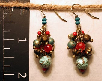 Handmade Earrings made from Vintage Beads