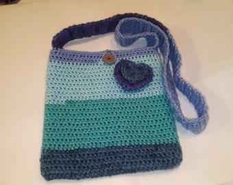 Crochet Messenger Bag #1