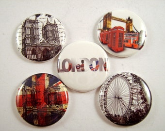 London Magnets Pins British UK Party Favors Gift Sets Fridge Magnets Wedding