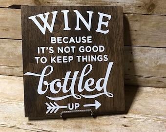Wine sign| kitchen sign| kitchen decor