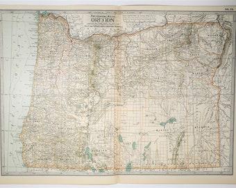 1897 Antique Oregon State XL Map
