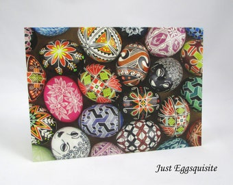 Set of 3 Blank Note Cards, Pysanky Note Cards, Egg Note Card, Ukrainian Egg Cards, Easter Cards, Ukrainian Stationery, Easter Egg Note Cards
