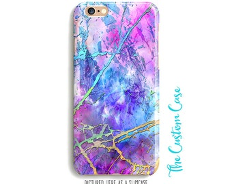 Neon Marble Phone Case, Atomic Rainbow Marble Case, Comic Book Marble Phone Case, Hot Purple Marble Phone Case, Pop Art Marble Phone Case