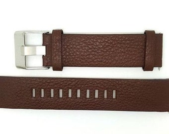 Genuine Leather BROWN Strap Band for Diesel Watches 22 mm. (D-4)