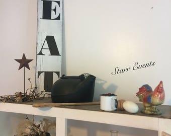 Eat sign. Kitchen signs. Kitchen decor. Farm signs. Farm decor. Rustic signs. Restaurant sign Primitive decor.  Rustic decor Farmhouse decor