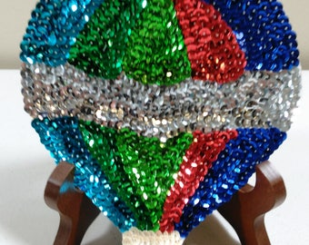 Hot Air Balloon Sequin Patch/Embellishment (B)
