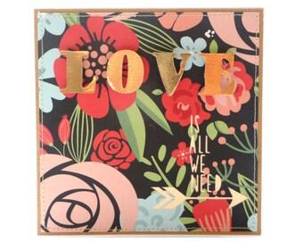 Love is all we need Handmade Card