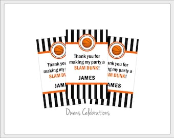 Basketball Gift Tags, Basketball Party Favor Tags, Basketball Party Decorations, Basketball Birthday Party