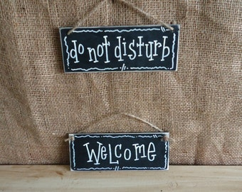 Welcome sign, chalboard sign, do not disturb sign, baby shower gift idea, wedding shower gift idea,