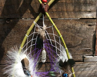 Dream Catcher, Spirit Web. Crystal Weaving Light