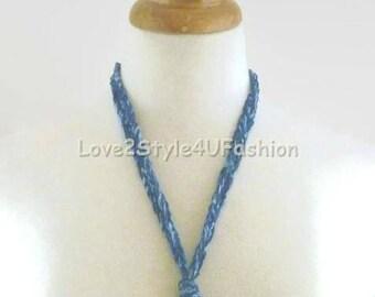 Open Circle Necklace, Solar Eclipse, Cobalt Blue Ring Pendant, Donut Pendant, Pendant Necklace, Circle Pendant, Ring Necklace, Round Pendant