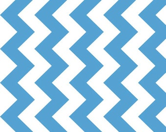 "Chevron Medium Blue Medium Chevron for Riley Blake, 1/2 yard, 57""/58"" wide"