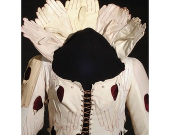 Blood Countess Art Dress Recycled Leather Gloves