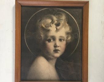 The Light of the World by C Bosseron Chambers Framed Art - Child Jesus