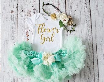 Flower Girl Outfit, Flower Girl Rehearsal Outfit, Bridal Crew Shirt, Petal Patrol Top, Flower Girl Gift, Wedding Rehearsal