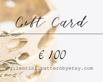 Gift Card, gift coupon, last minute gift for Valentine's Day. Winter balances