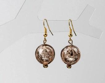 Beige Earrings, Coffee Earrings, Bubble Earrings, Clothing Gift, Round Earrings, Charity Earrings, Charity Donation