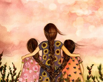Mother or sister with two sisters/daughters