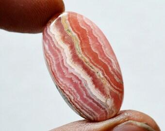 27.5 Cts Natural Rhodochrosite Oval Shape Pink Rhodochrosite Gemstone Cabochon 28x26x5 MM R16375
