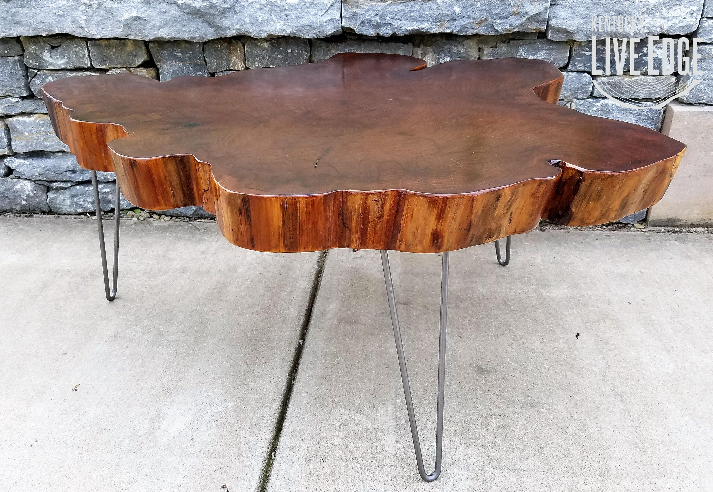 Big Round Coffee Table Live Edge Slab Table Tree Round Tree