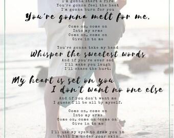 Custom First Dance Lyrics