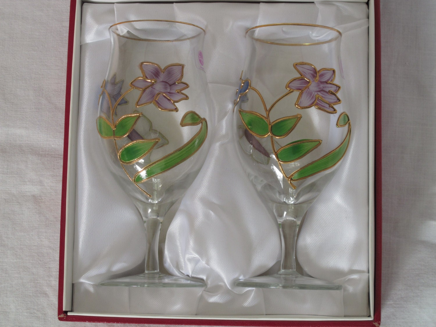 West German Stemware Collectible Nagel w/ Gift Box Handmade