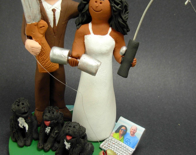 Wedding Cake Topper for a Mixed Race Marriage,Wedding Anniversary Gift for Mixed Race Couple, Interracial Wedding Anniversary Gift.