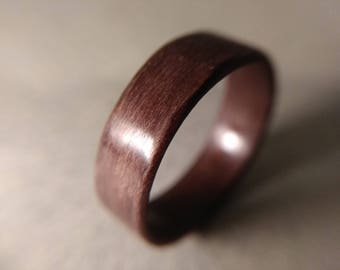 PEAR BENTWOOD RING / Wod ring / Wooden ring / Bentwood ring / Wood band / Wooden band / Bentwood band / Anniversary ring / Anniversary band
