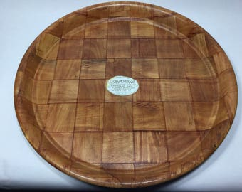 "Woven Wood Tray 12 3/4"" From ...subaki wood, Superior Quality Woven Wood Platter"