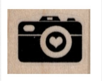 Rubber stamp Heart Camera Silhouette  stamps stamping  scrapbooking supplies number 19882